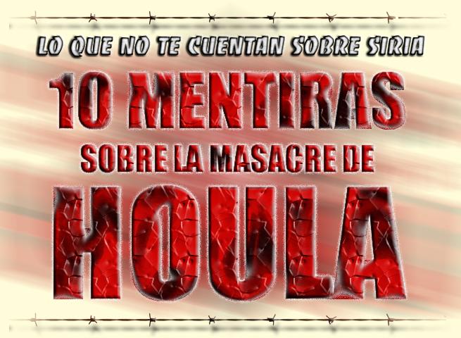 10 mentiras sobre la masacre de Houla