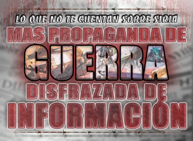 Mas propaganda de guerra disfrazada de información